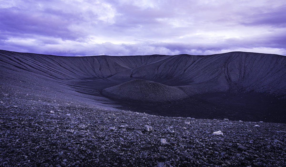 Crater At Dusk
