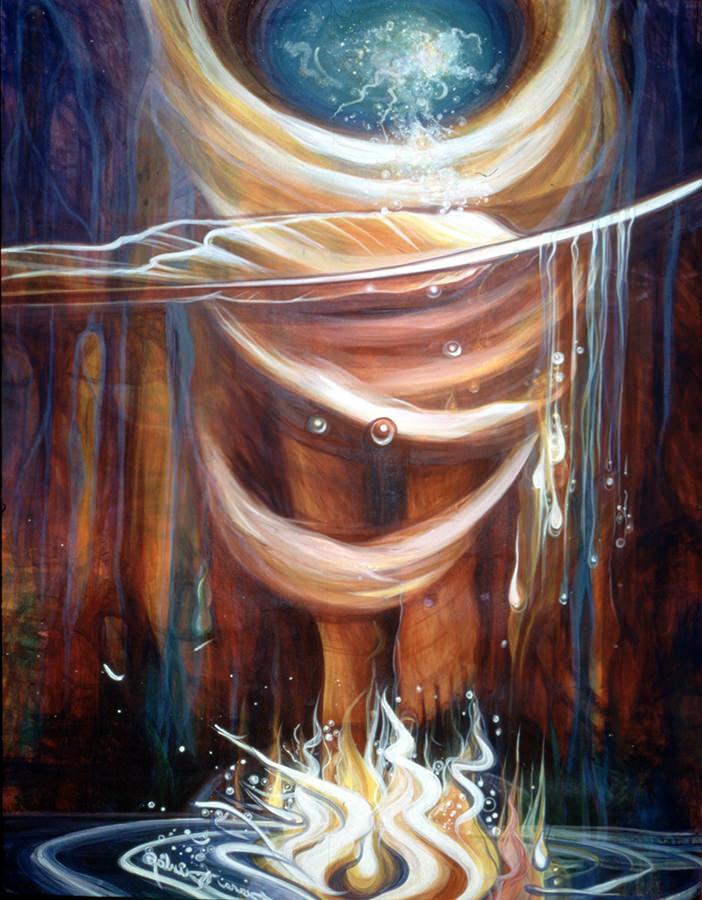 Fire Dancer, acrylic on canvas, 4'x5'