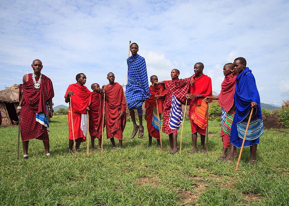 Masai Jumping. Africa
